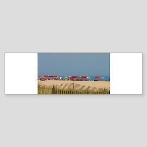 Cape May, NJ Beach Umbrellas Bumper Sticker