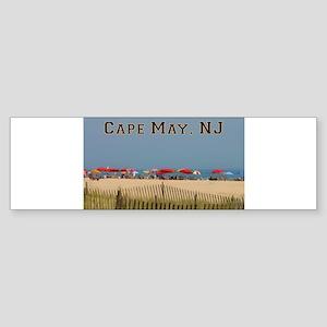Cape May, NJ Beach Scene Bumper Sticker