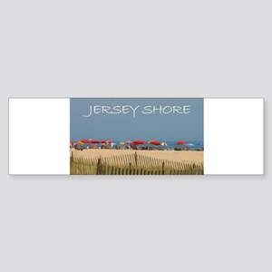 Jersey Shore Beach Umbrellas Bumper Sticker