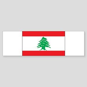Lebanon - National Flag - Current Sticker (Bumper)