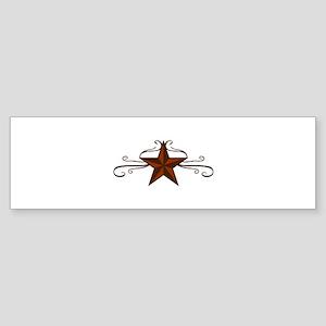 WESTERN STAR SCROLL Bumper Sticker