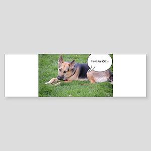 German Shepherd Humor Bumper Sticker