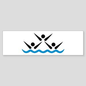 Synchronized swimming icon Sticker (Bumper)