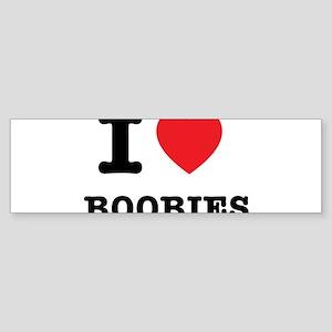 I Heart Boobies Bumper Sticker
