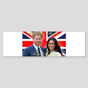 HRH Prince Harry and Meghan Markle Bumper Sticker