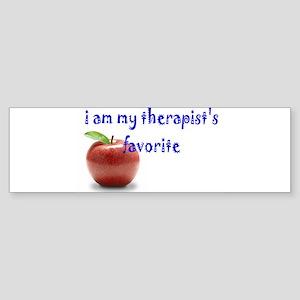 therapist's favorite Bumper Sticker