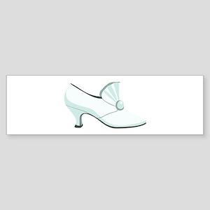 Bridal Wedding Shoe Bumper Sticker