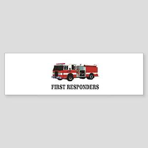 first responders Bumper Sticker