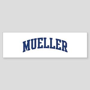 MUELLER design (blue) Bumper Sticker