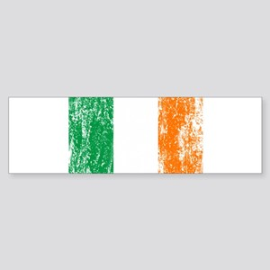 Irish Flag Pattys Drinking Sticker (Bumper)