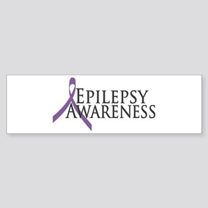 Epilepsy Awareness Ribbon Bumper Sticker