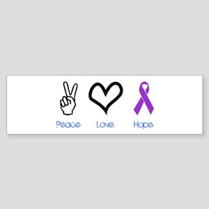 Peace Love Hope Bumper Sticker