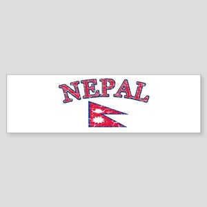 Nepal Flag Designs Sticker (Bumper)