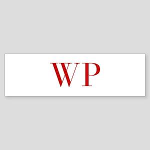 WP-bod red2 Bumper Sticker