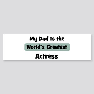 Worlds Greatest Actress Bumper Sticker