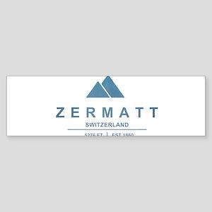 Zermatt Ski Resort Switzerland Bumper Sticker