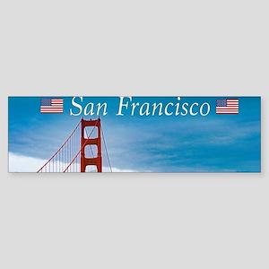 Stunning! Golden Gate Bridge San Fr Bumper Sticker