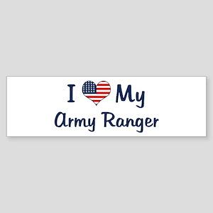 Army Ranger: Flag Love Bumper Sticker