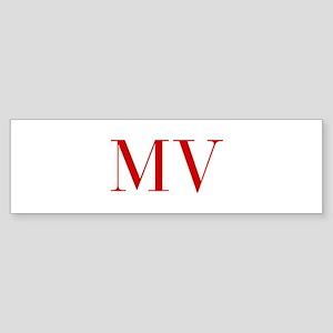 MV-bod red2 Bumper Sticker
