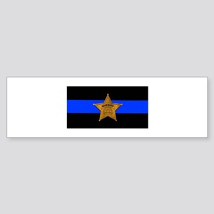Sheriff Thin Blue Line Bumper Sticker