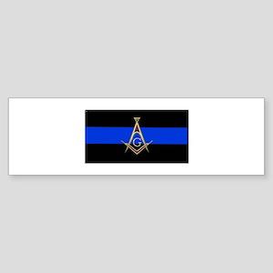 Masons Thin Blue Line Bumper Sticker