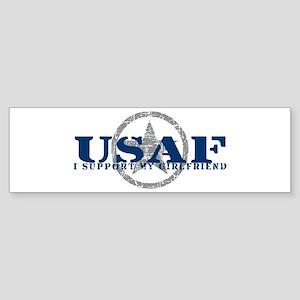 I Support My Girlfriend - Air Force Sticker (Bumpe