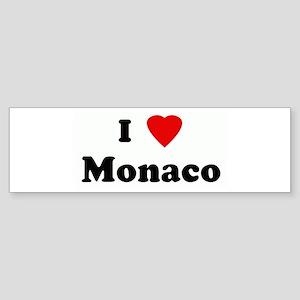 I Love Monaco Bumper Sticker