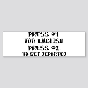 English or deportation Bumper Sticker