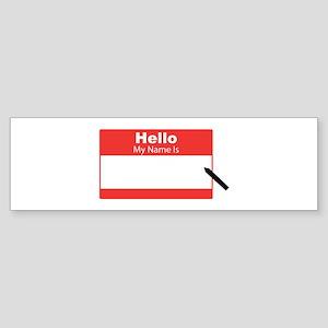 My Name Is Bumper Sticker