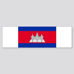 Cambodia - National Flag - Current Sticker (Bumper