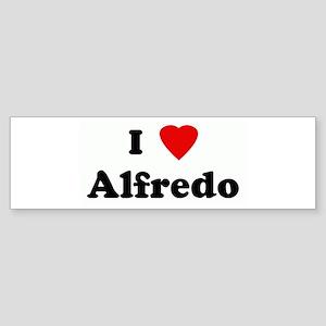 I Love Alfredo Bumper Sticker