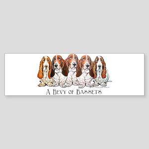 Basset Hound Bevy Bumper Sticker