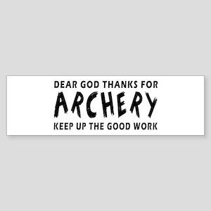Archery Martial Arts Designs Sticker (Bumper)
