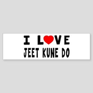 I Love Jeet Kune Do Sticker (Bumper)