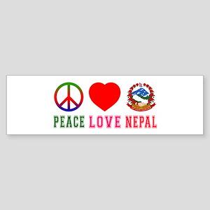 Peace Love Nepal Sticker (Bumper)