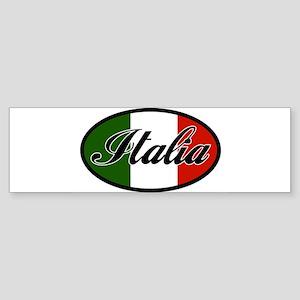 italia-OVAL Sticker (Bumper)
