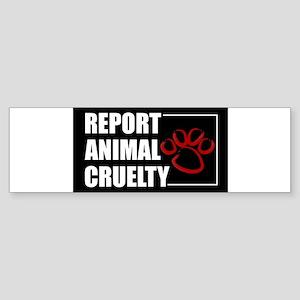 reportcruelty.sticker_flat Bumper Sticker