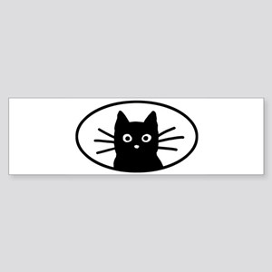 blackcatfacesticker Bumper Sticker