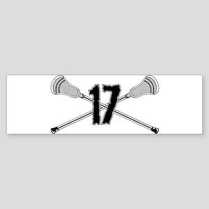 Lacrosse Number 17 Bumper Sticker
