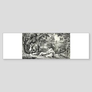 Partridge shooting - 1865 Sticker (Bumper)