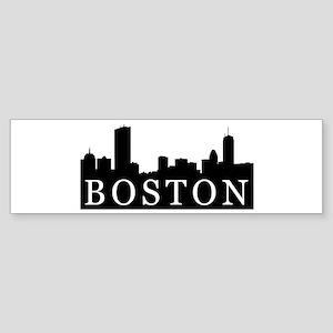 Boston Skyline Bumper Sticker