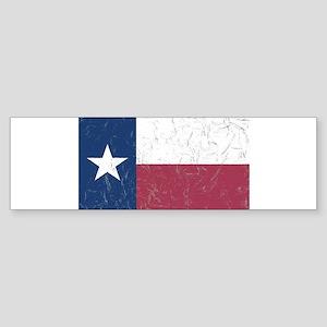 Wrinkled Texas Flag. Bumper Sticker