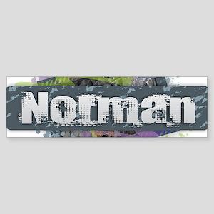 Norman Design Bumper Sticker