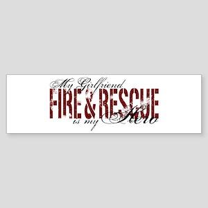 Girlfriend My Hero - Fire & Rescue Sticker (Bumper