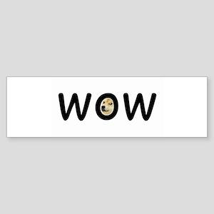 WOW Bumper Sticker