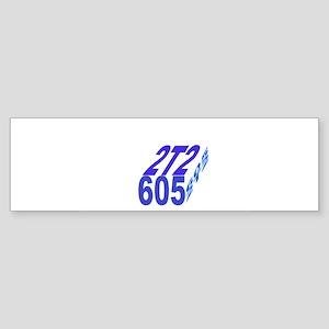 2tt2/605 cube Bumper Sticker