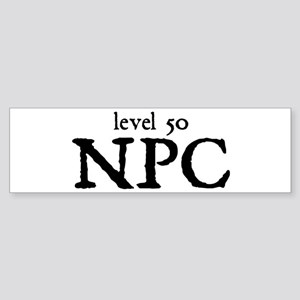 Level 50 NPC Bumper Sticker