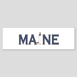Maine Lighthouse Sticker (Bumper)