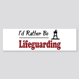 Rather Be Lifeguarding Bumper Sticker