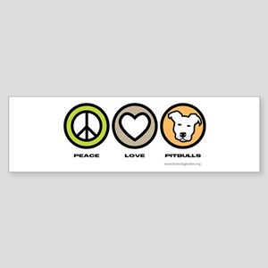 Peace, Love, Pits Sticker (Bumper)